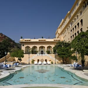 Samode Palace in Jaipur: Swimming pool