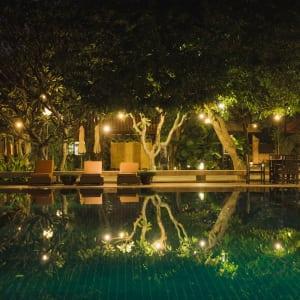 Rupar Mandalar in Mandalay:  Swimming Pool by night