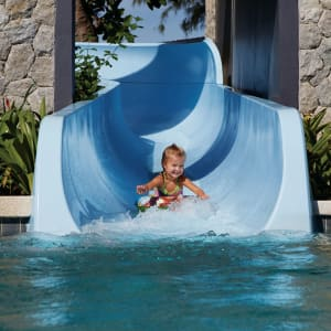 Outrigger Laguna Phuket Beach Resort: Swimming Pool with Long Water Slide