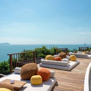 Six Senses Yao Noi in Ko Yao:  The Hilltop Lower Pool Deck