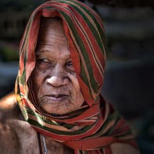 Les hauts lieux du Cambodge de Siem Reap: Portrait of an old man in Cambodia