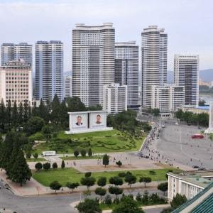 Nordkorea Kompakt ab Pyongyang: Pyongyang Blick vom Grossen Studienpalast des Volkes