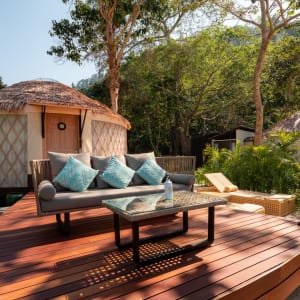 Awei Pila Resort in Mergui Archipel: Beachfront Seaview