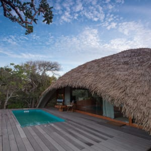 Yala Nationalpark Safari - Chena Huts - 3 Tage ab Colombo: room: Cabin Exterior, Plunge pool and deck