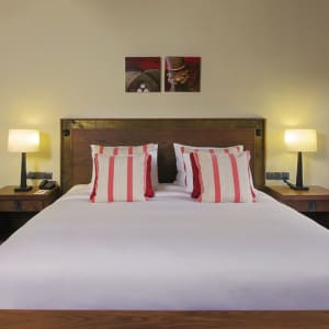 Sanctum Inle Resort in Inle Lake: Cloister red bed