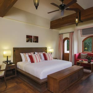 Sanctum Inle Resort in Inle Lake: Cloister red harmony