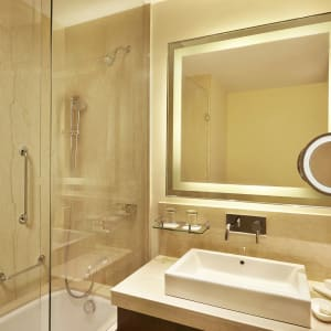 Trident à Agra: Deluxe Garden View   Deluxe Pool View   Bathroom