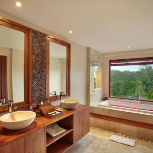 Jannata Resort & Spa in Ubud: Deluxe Suite | Bathroom area