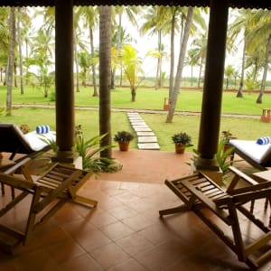 Nattika Beach Ayurveda Resort in Kochi: Deluxe Villa | Veranda View