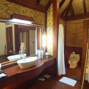 Pristine Lotus Resort in Inle Lake: Floating Cottage | DressingTable and Toilet