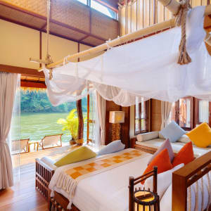 River Kwai Soft Adventure & Elefanten Erlebnis ab Bangkok: room: Floating Villa