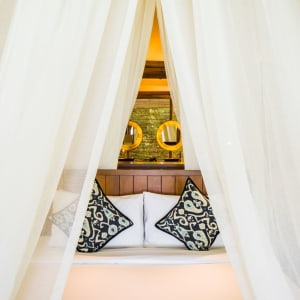 Bawah Reserve: Garden Suite | king size bed