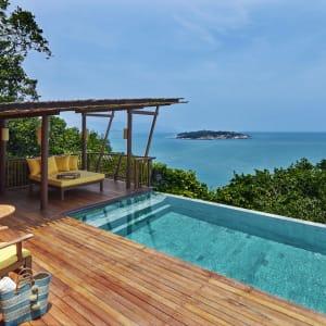 Six Senses Samui in Ko Samui: Ocean Front Pool Villa Suite | Deck