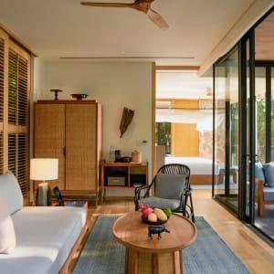 Six Senses Krabey Island à Sihanoukville & Îles: Ocean Pool Villa Suite | Living Room