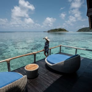 Bawah Reserve: Overwater Suite | enjoying seaview