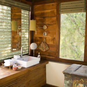 Baghvan Lodge in Pench: Suite | Bathroom