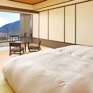 Kowakien Tenyu Ryokan in Hakone: Superior Japanese room w open air bath