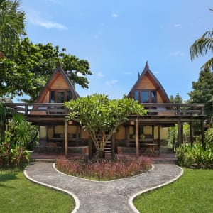 Vila Ombak à Gili: Traditional Lumbung Hut