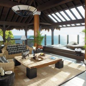 Shangri-La's Boracay Resort & Spa: Tree House Villa | Deck area of  with jacuzzi