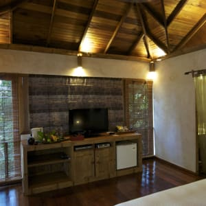 JapaMala Resort in Tioman:  Tree Top Chalet | TV area