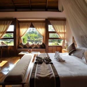 Popa Garden Resort à Bagan: Villa Terrace   Bedroom
