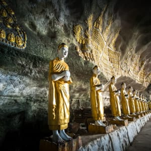 Fascination du sud du Myanmar de Yangon: Sadan Sin Min cave Hpa-An