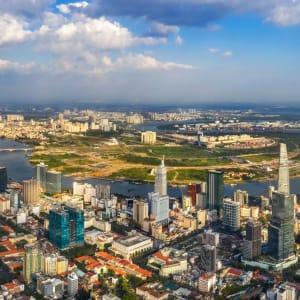 Vietnam für Geniesser ab Hanoi: Saigon Aerial View