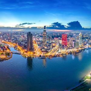 Les hauts lieux du Vietnam de Hanoi: Saigon Aerial View