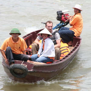 Mekong Delta Fluss-Kreuzfahrten mit «Mekong Eyes» ab Saigon: Sampanride