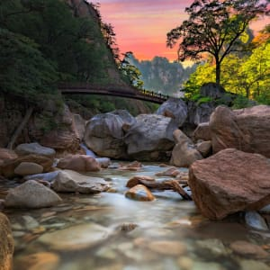 Découverte active de la Corée du Sud de Séoul: Seoraksan National Park Waterfall