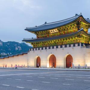Découverte active de la Corée du Sud de Séoul: Seoul Gyeongbokgung palace at night