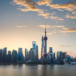 Les hauts lieux de la Chine de Pékin: Shanghai Skyline