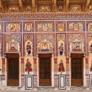 Höhepunkte Rajasthans ab Delhi: Shekawati: Havelis