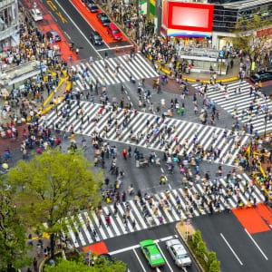 Les hauts lieux du Japon avec prolongation de Tokyo: Shibuya, Tokyo, Japan at Shibuya Crossing