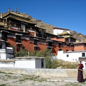 Avec le train du Tibet sur le toit du monde de Pékin: Shigatse Monastery