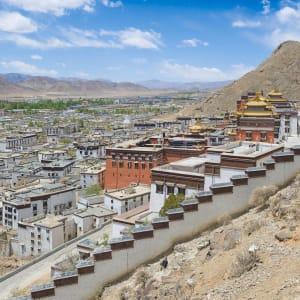 Avec le train du Tibet sur le toit du monde de Pékin: Shigatse Tashilunpo monastery