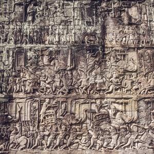 Voyage d'Angkor à Saigon de Siem Reap: Siem Reap Angkor Wat relief