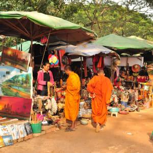 Voyage d'Angkor à Saigon de Siem Reap: Siem Reap market
