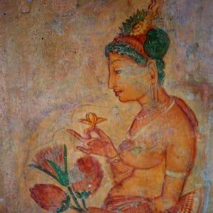 Les hauts lieux du Sri Lanka de Colombo: Sigiriya: fresco wall paintings