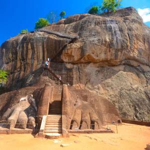 L'Est du Sri Lanka en été de Colombo: Sigiriya Lions Rock
