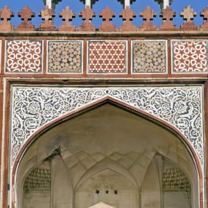 Goldenes Dreieck ab Delhi: Sikandra: Detail of Akbar's Tomb