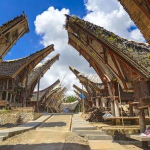 Sulawesi-Torajaland Rundreise ab Makassar: Sulawesi Toraja Tongkonan traditional village Palava