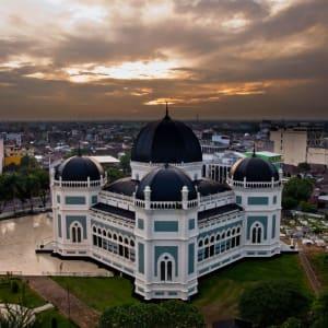 Sumatra Überlandreise ab Medan: Sumatra Medan Al-Mashun Mosque