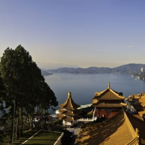 Taiwan – Grosse Mietwagenrundreise ab Taipei: Sun Moon Lake: view from the temple
