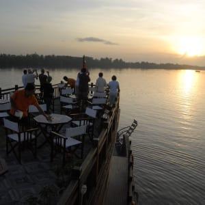Mekong Delta Fluss-Kreuzfahrten mit «Mekong Eyes» ab Saigon: Sunset