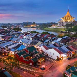 Höhepunkte Borneos ab Kuching: Sunset View At Kuching City