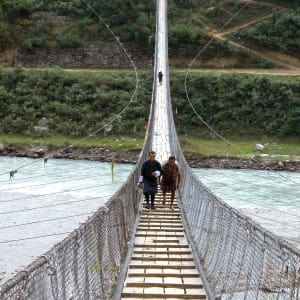 Le pays et les légendes du Bhoutan de Paro: Suspension Bridge