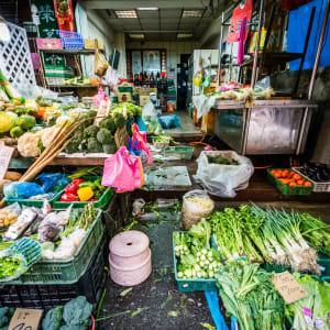 Les hauts lieux de Taïwan de Taipei: Taipei Food vendor at a street market near Dongmen