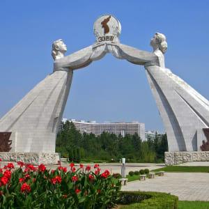 Grand circuit en Corée du Nord de Pyongyang: Three Charters for National Reunification Monument