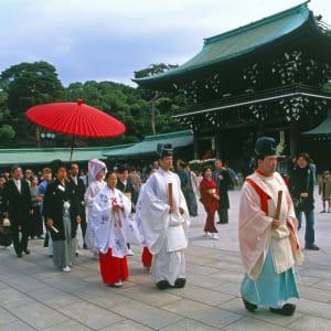 Circuit en groupe «L'éclat du Japon» de Tokyo: Tokyo: Wedding at Meiji Shrine